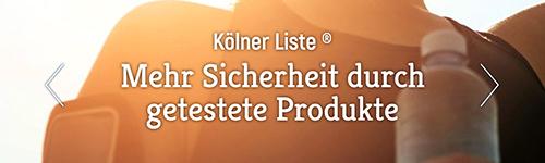 Kölner Liste - Sicherheit durch getestete Produkte