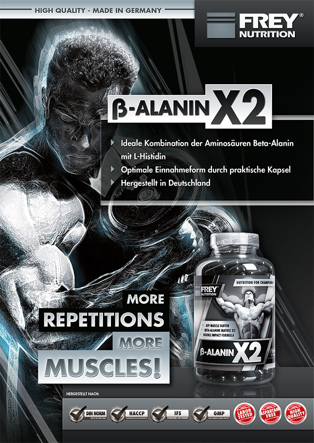 BETA-ALANIN X2 Flyer front