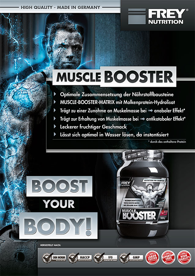 MUSCLE BOOSTER Flyer front