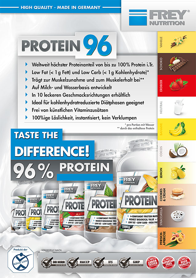 PROTEIN 96 Flyer front