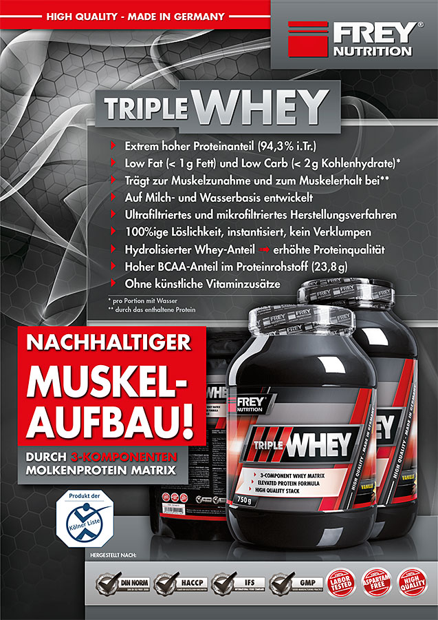TRIPLE WHEY Flyer front