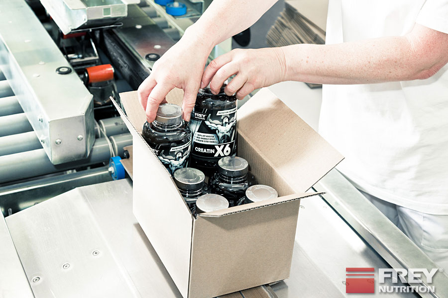 CREATIN X6 Verpackungsabteilung