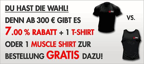 Rabatt und Shirt