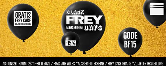 BlackFREYday - 15 % auf ALLES